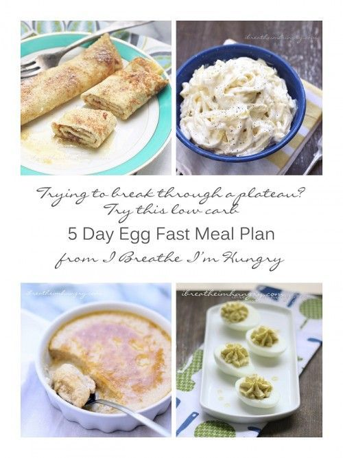 Egg Fast Diet Menu Plan (Low Carb & Keto) and FAQs by I Breathe I'm Hungry.  Stuck in a weight loss stall?  Bust through it with my easy 5 day egg fast diet plan!