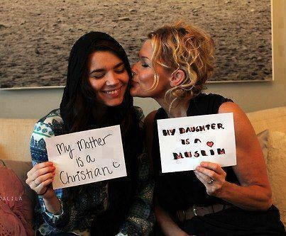 LOVE THIS!!!!! My mother is a Christian.    My daughter is a Muslim.