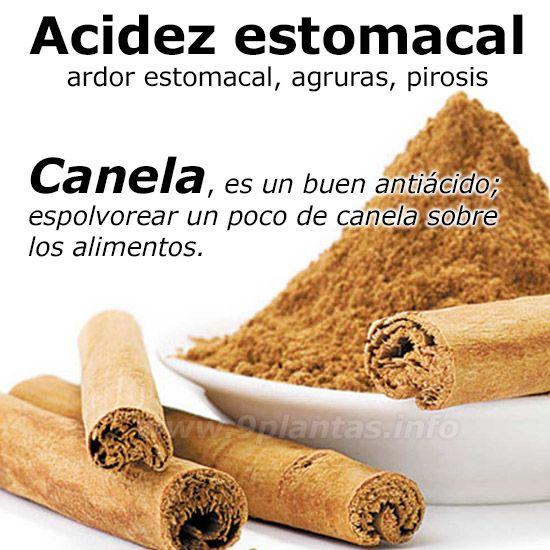 Acidez estomacal | La canela es un buen anti-ácido contra el exceso de acidez.