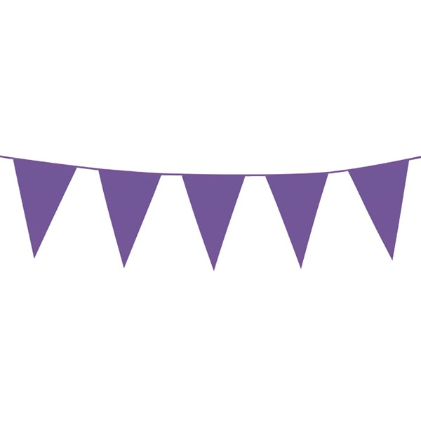Wedding deco  Vlaggenlijn paars  XL 10 meter