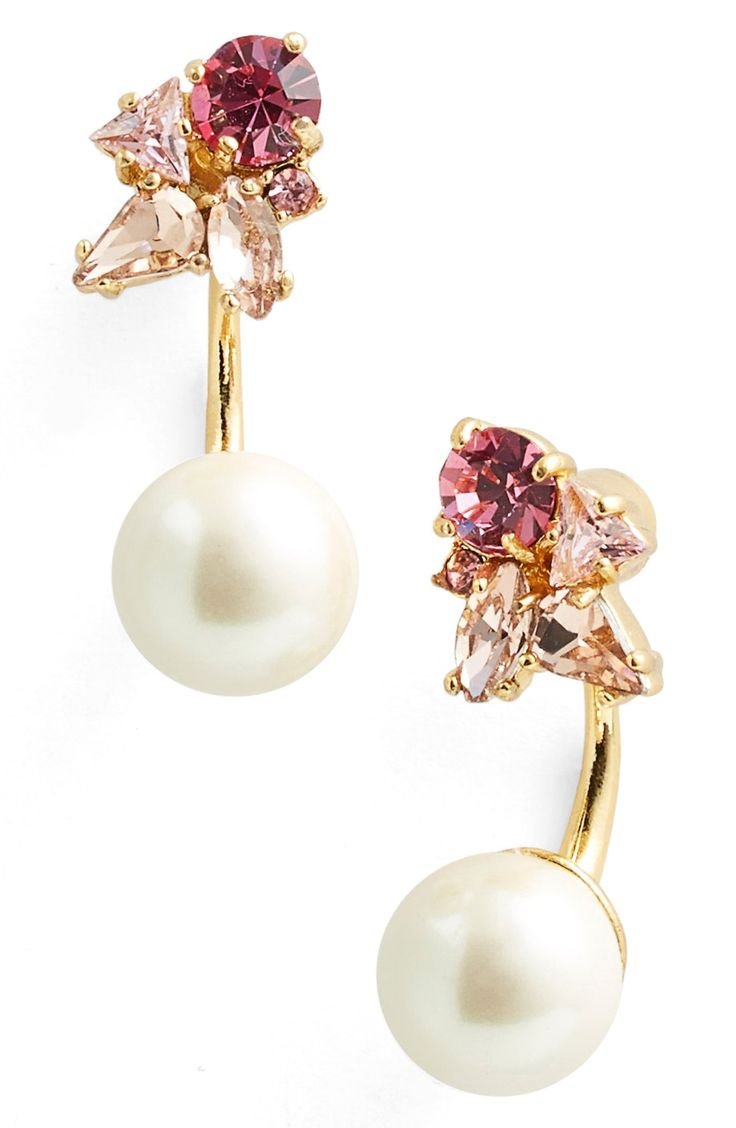 kate spade new york 'dainty sparklers' drop back earrings