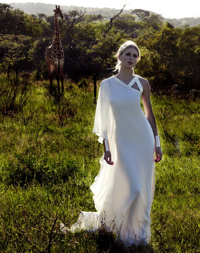 Bridal Dresses UK: Sexy Wedding Dresses By Amanda Wakeley.    I love the shoulder strap and the loose, soft, flowiness of the primary body of the garment!!!