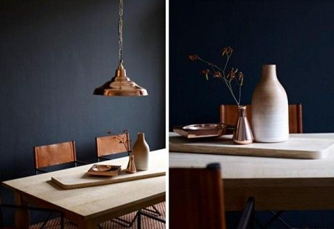 copper and wood
