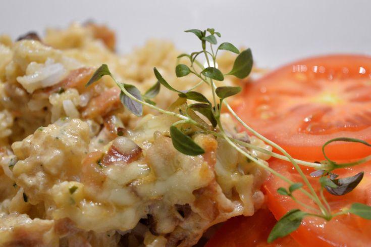 Ris och baconlåda med vitlök 4