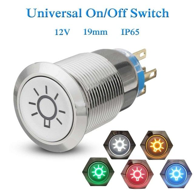 19mm Led Push Button Switch 12v Dome Light Fog Lamp Switches Self Lock Momentary For Car Truck Boat Review Lamp Switch Fog Lamps Dome Lighting