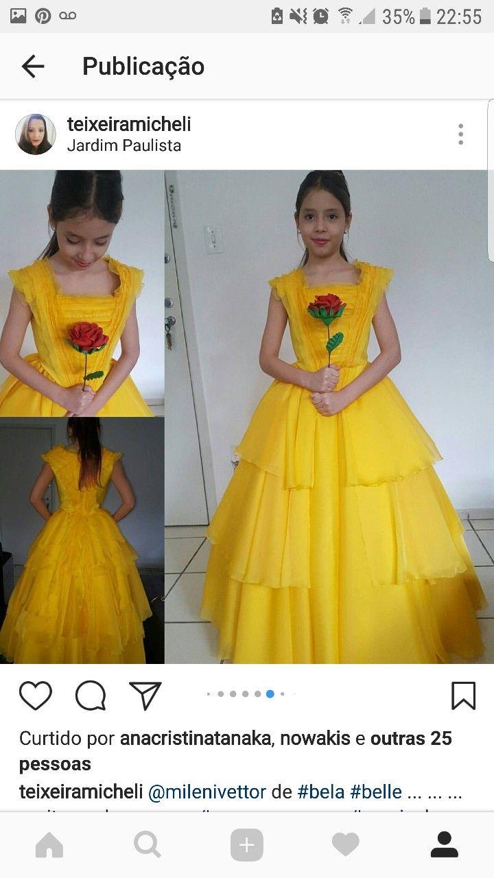 Vestido amarelo Bela