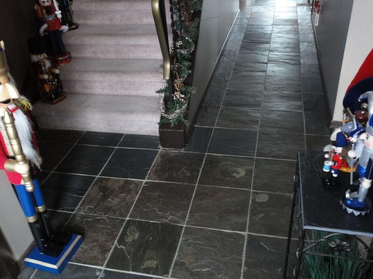 How to Install a Stone Tile Floor With Slate Stone Tile Flooring
