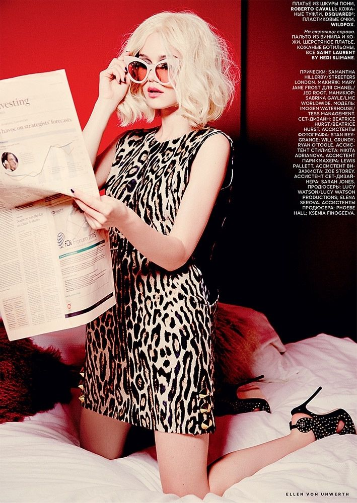 Immy Waterhouse Has Blonde Ambition in Vogue Russia Editorial - Fashion Gone Rogue