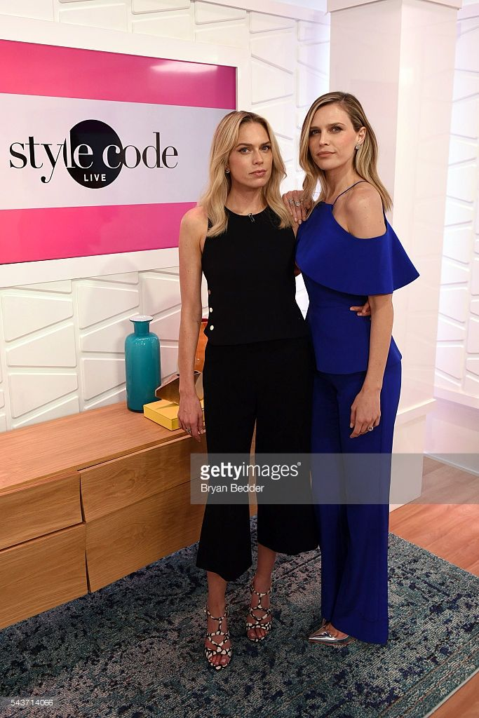 Actors Erin Foster and Sara Foster appear on Amazon's Style Code Live on June 29, 2016 in New York City.