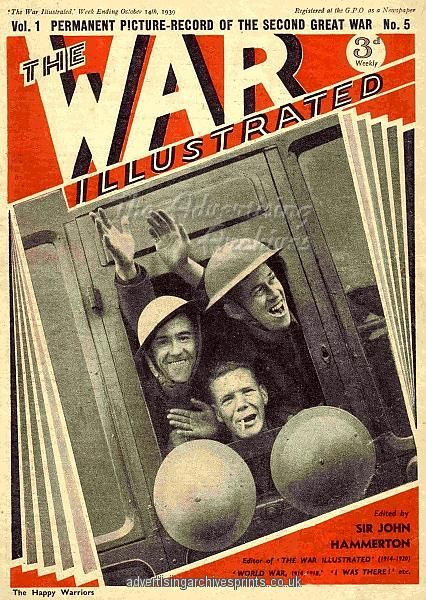 1930s UK The War Illustrated Magazine Cover