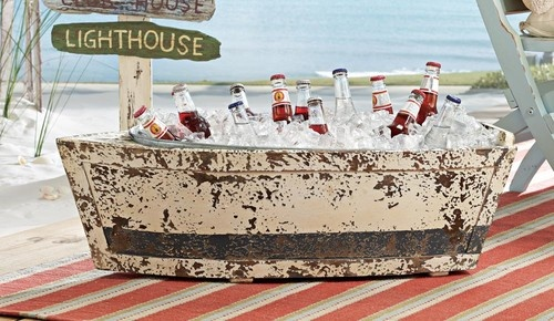 Wood Boat Cooler tropical outdoor products