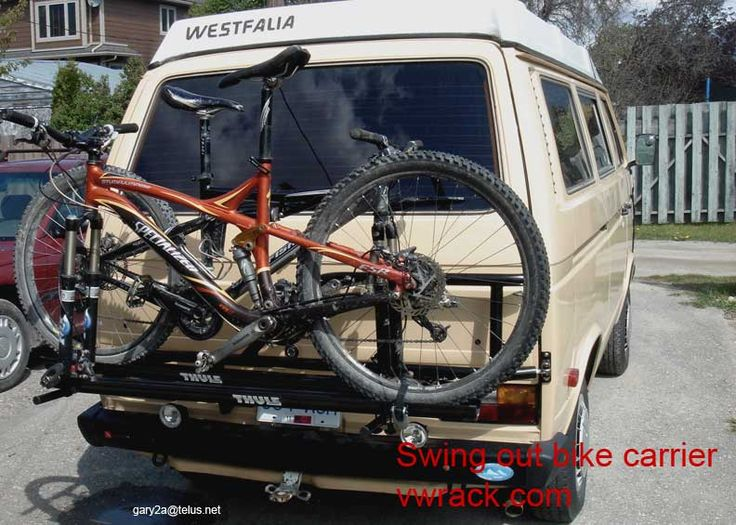 VW Vanagon swing out bike carrier rack