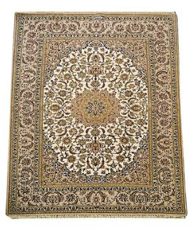 Prepossessing Persian Isfehan 2 with traditional design. Ask us for complete estimate and fitting services.   Traditional Persian design superbly knotted using the finest kork wool woven on silk foundation and silk inlay superb quality in soft colour palette. #melbourne #rugs #persian #traditional #Online #buy