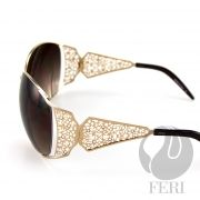 FERI Avro - Gold Shield - FERI frames are manufactured in Italy - Lenses are UV 400 and provide protection against harmful UV rays - Mazzucchelli acetate is used - Mazzucchelli is the world leader in acetate production - Acetate is a hypo allergenic plastic - Acetate is used for its shine, color depth and durability  Invest with confidence in FERI Designer Lines.