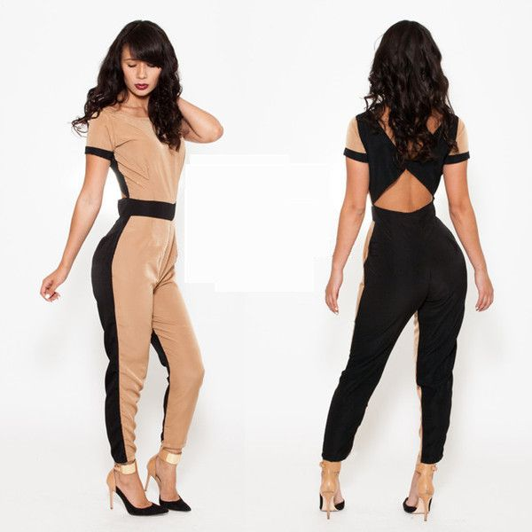2014 Top Fashion Women Bodysuit Clubwear Hollow Out Bandage Jumpsuit Sexy ladies rompers $26.70
