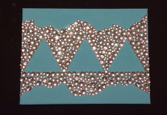 Sorority Jeweled Canvas Painting by UniversityColors on Etsy
