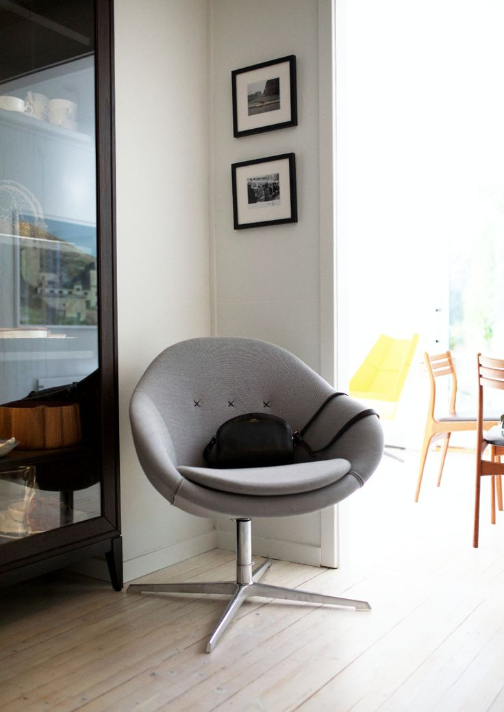 Ingrid Holm Blog - Kokon club chair designed by Thomas Pedersen white lacquered oak floors