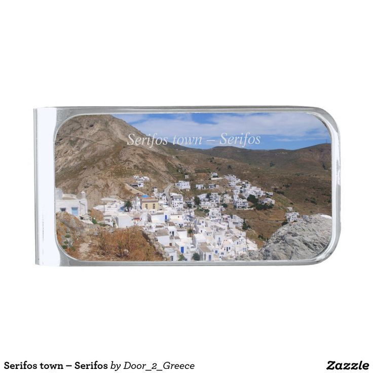 Serifos town – Serifos Silver Finish Money Clip