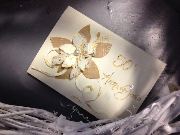 Biglietto personalizzato per 50° Anniversario Matrimonio