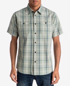 Quiksilver Waterman Men's Reform Plaid Shirt - Green XXL