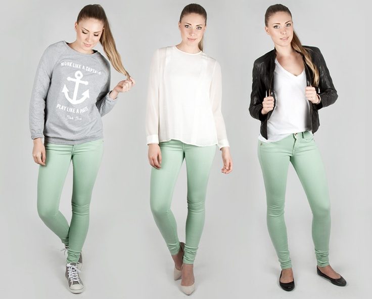 3 different styles with Fornarina pants.