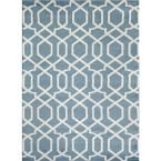 Contemporary Trellis Design Blue 7 ft. 10 in. x 10 ft. 2 in. Indoor Area Rug