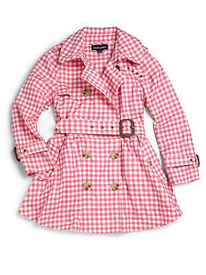 Ralph Lauren Toddler's & Little Girl's Gingham Trenchcoat