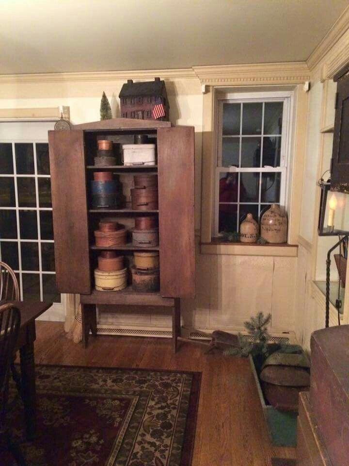 ... Primitive Antiques, Country Primitive, Country Farmhouse, Primitive  Decor, Country Cupboard, Prime Decor, Country Decor, Primitive Furniture