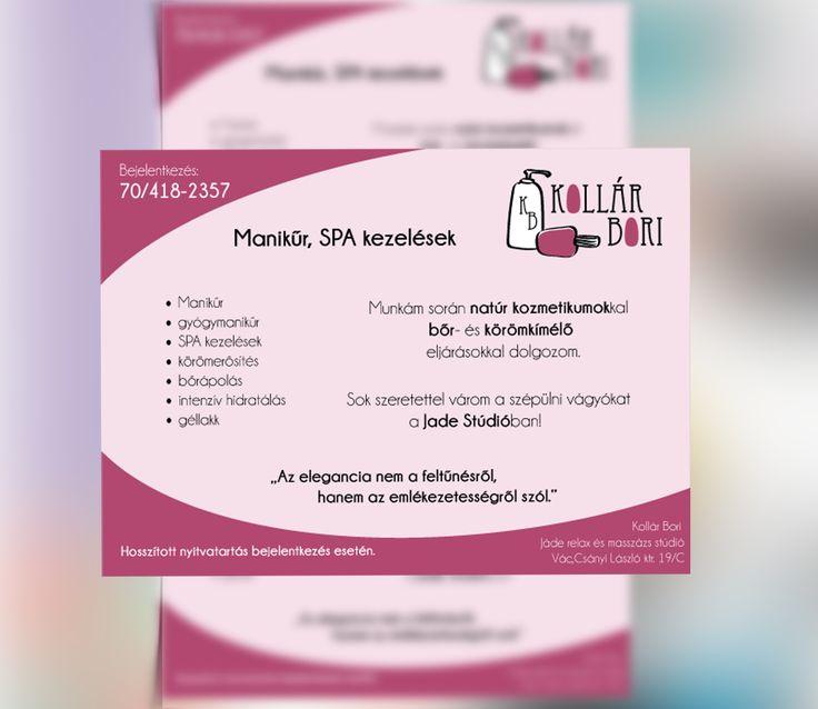Flyer design for a manicurist - Kollár Bori manikűrös szórólapja