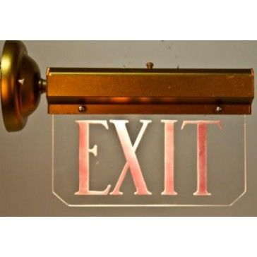 edge lit exit sign - Google Search