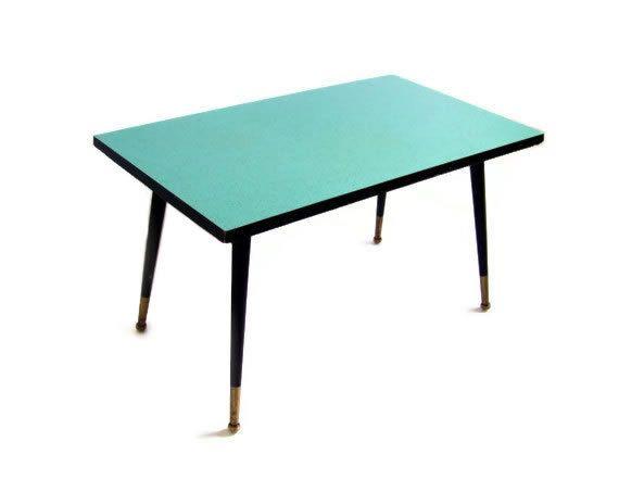 Vintage Coffee Table Blue Turquoise Formica Rectangle Side Desk Tapered  Stiletto Legs Mid Century Modern Atomic Eames Era Furniture Via Etsy |  Pinterest ...
