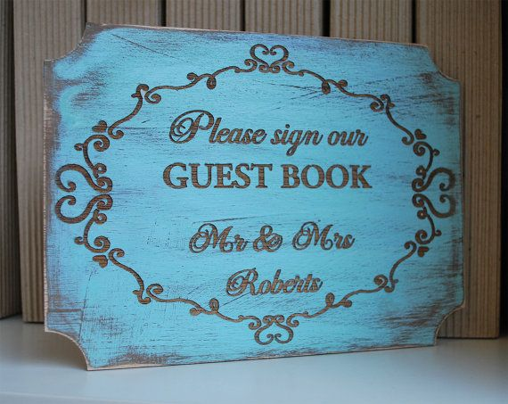 Rustic Wedding  wood wedding sign  Sign our guest by WoodYourDay