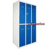 Taquillas metálicas atornilladas  http://www.esmelux.com/taquillas-serie-2-con-3-columnas-2x3-6-puertas