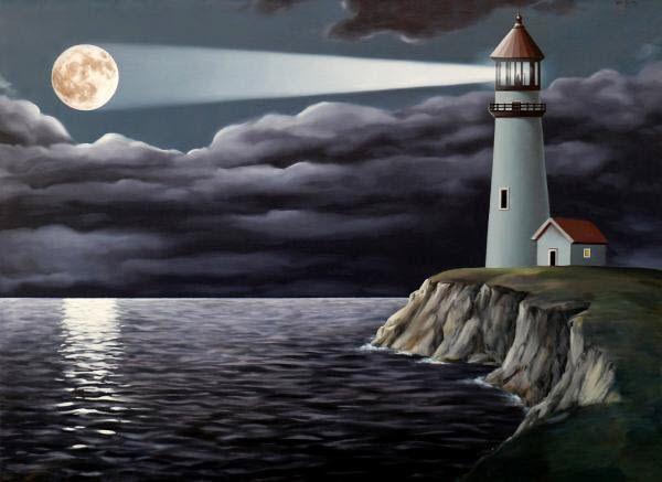Sailing Ships Lighthouses Surreal Water Drops Artwork Hands ...