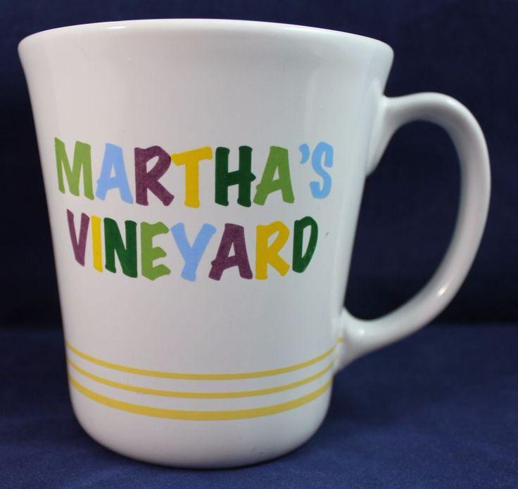Martha's Vineyard Multicolor Coffee Tea Cocoa Large Mug Cup