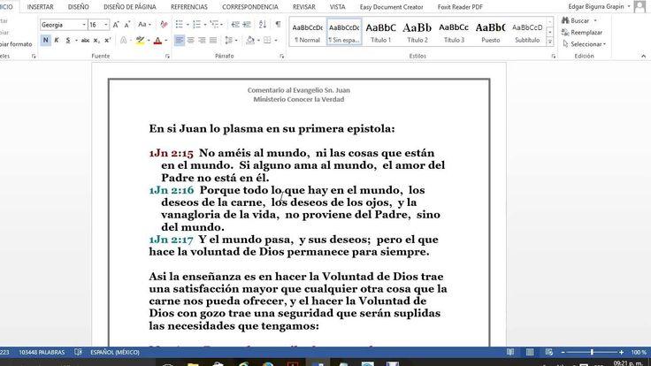 El Evangelio San Juan 4 vs 31al36