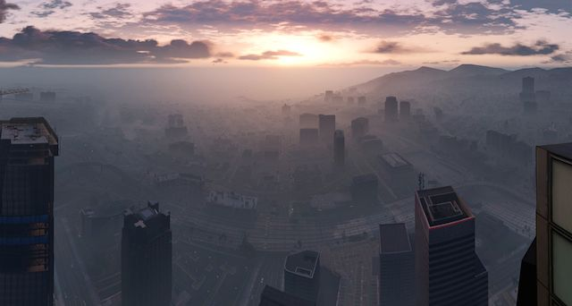 In-Game Gta V - beautiful series of atmospheric screenshots following the link