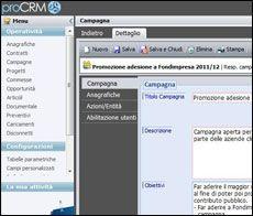 con ProCRM incrementi le opportunità pianificando le tue campagne, definendo obiettivi, modalità operative, figure coinvolte e tempi, condiv...