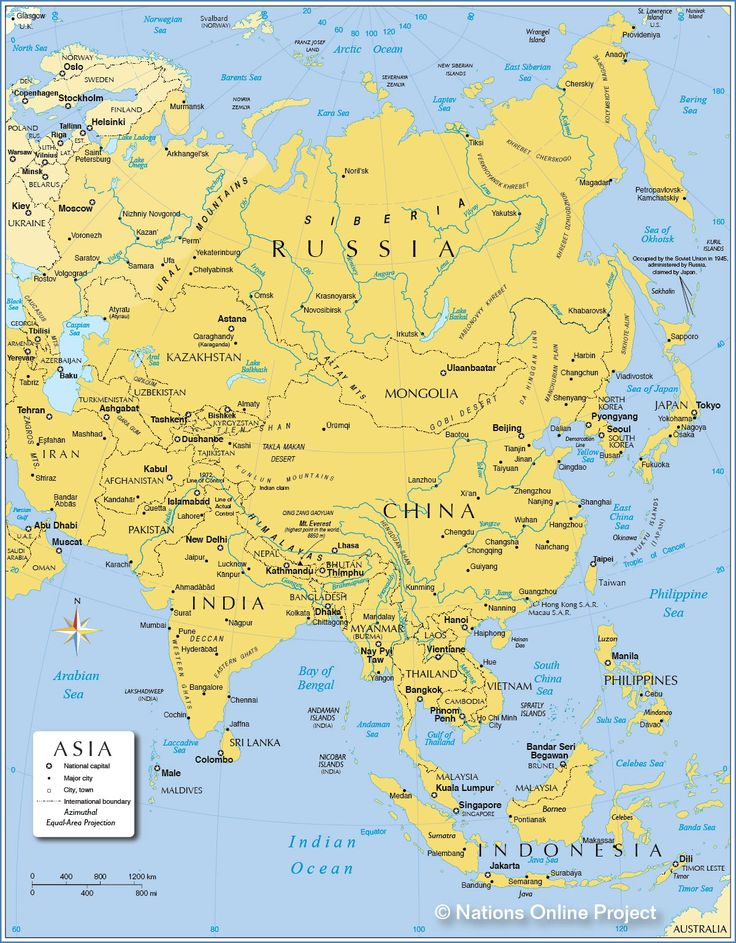 Map of Asia - Political Map of Asia - Nations Online Project