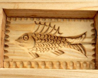 RUSSIAN FISH - 2. Wooden presses mold for pressed spice-cakes / pryaniks / cookies / springerle cookies ART 101-002- 0016-15 - Edit Listing - Etsy
