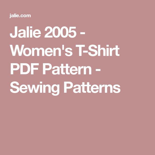 Jalie 2005 - Women's T-Shirt PDF Pattern - Sewing Patterns