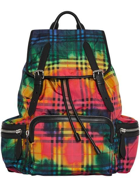 1a19d206a Burberry tie-dye vintage check rucksack | Unusual Backpacks in 2019 ...