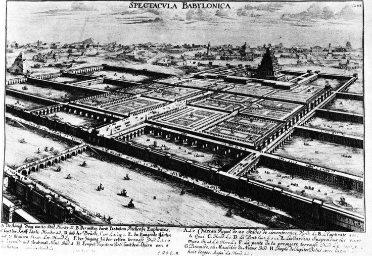 Johann Bernhard Fischer von Erlach, Reconstruction of Babylon, Including Tower of Babel