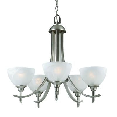 Hampton Bay 26 In Chandelier Brushed Nickel Finish CC 198 5 BN Home D