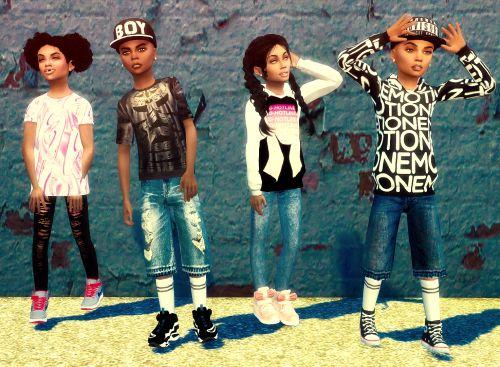 Ebonix Urban Kidz Collection Sims 4 Cc Pinterest