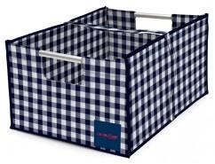 Big Foldaway Box® - GiGi Gingham Blue