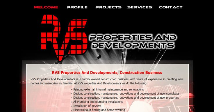 RVS Properties And Developments is a family owned construction business with years of experience in creating new homes and memories for families. Visit http://www.rvspd.co.za