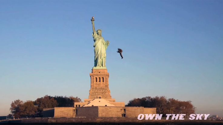 Exclusive video of the world's only real JetPack flown in New York around the Statue of Liberty.