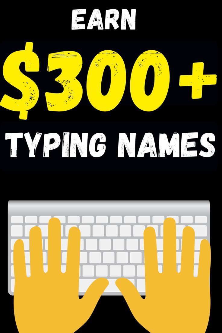 Find out how you can make $300+ online just by typing names with your keyboard! – Geld verdienen