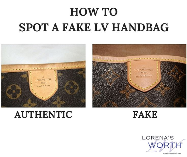 How to spot a fake vs. real Louis Vuitton hand bag